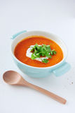 Roasted vegetable tomato soup Stock Image