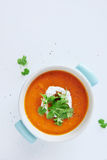 Roasted vegetable tomato soup Royalty Free Stock Images