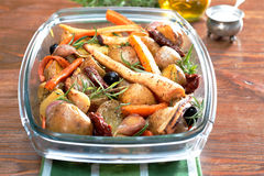 Roasted vegetables Stock Photos