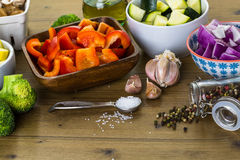 Roasted vegetables Royalty Free Stock Photo