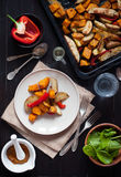 Roasted vegetables Stock Image