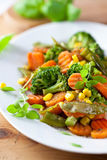 Roasted vegetables with herbs Royalty Free Stock Images
