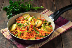 Roasted Vegetables In A Pan Royalty Free Stock Image
