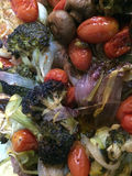 Roasted Vegetables make a colourful and tasty treat Royalty Free Stock Images