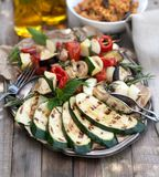 Roasted vegetables. On a plate royalty free stock image