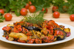 Roasted vegetables Royalty Free Stock Images