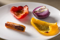 Roasted vegetables Stock Images