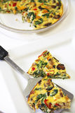 Roasted veggie fritatta vertical Stock Images