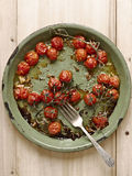 Roasted vine red cherry tomatoes Royalty Free Stock Photography
