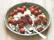 Roasted vine red cherry tomatoes Royalty Free Stock Photo