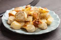 Roasted White Sweet Potatoes and Parsnips macro shot Royalty Free Stock Photos
