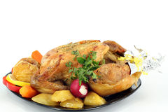 Roasted whole chicken Stock Photography
