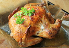 Roasted whole chicken Royalty Free Stock Photography