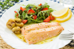 Roasted wild salmon fillet Royalty Free Stock Image