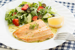 Roasted wild salmon  Stock Photography