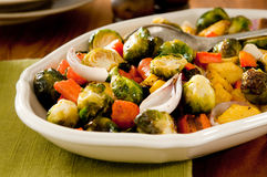Roasted Winter Vegetables Stock Photos