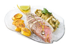 Roasted Yellow Tail Snapper Royalty Free Stock Photography