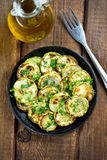 Roasted zucchini with herbs Stock Photography