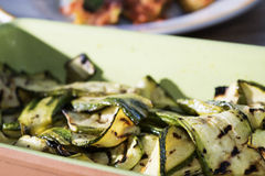 Roasted zucchini Stock Photography