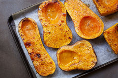 Roasting Butternut Pumpkin for Soup Royalty Free Stock Photo