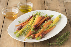 Before Roasting The Carrots Stock Images