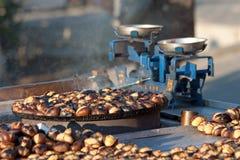 Roasting Chestnuts royalty free stock photos