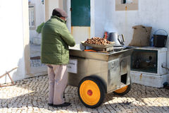 Roasting Chestnuts Royalty Free Stock Image