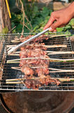 Roasting chicken. In Thailand Stock Photography