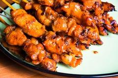 Roasting chicken Stock Photos