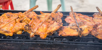Roasting chicken Royalty Free Stock Photography