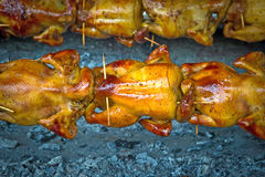 Roasting chicken Royalty Free Stock Image