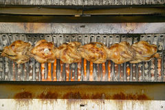 Roasting chickens, Caf�, Antibes, France Royalty Free Stock Images