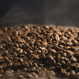 Roasting of coffee beans Stock Photo