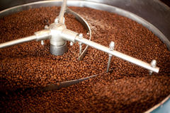 Roasting Coffee Beans Royalty Free Stock Photos