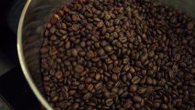 Roasting coffee beans machine stock video footage