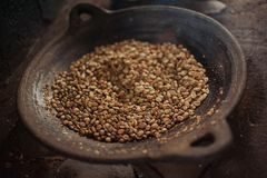 Roasting coffee Royalty Free Stock Photo