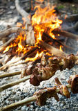 Roasting lamb Stock Photography