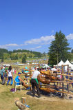 Roasting lambs at Rozhen Fair,Bulgaria Stock Photography