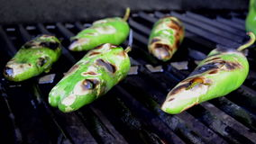 Roasting Pepper Rips Open stock video footage