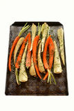 Roasting root vegetables Royalty Free Stock Photos