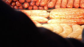 Roasting Sausages.HD stock video