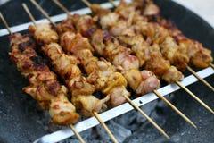 Roasting Shish Kebab On Skewers Royalty Free Stock Photo