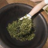Roasting tea leaves Stock Image