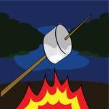 Roasting um marshmallow foto de stock