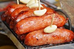 Roasts the sausage Royalty Free Stock Image