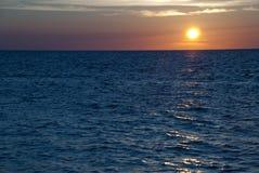 Roatan,洪都拉斯的日落 图库摄影
