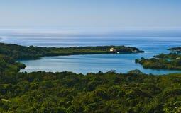 加勒比洪都拉斯roatan海运 免版税库存照片