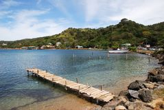 Roatan Coastline. The coastline of Coxen Hole town, the capital of Roatan island (Honduras Royalty Free Stock Image