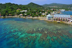 Roatan, Honduras. This is the port in Roatan, Honduras. This port is located at Coxen Hole royalty free stock image