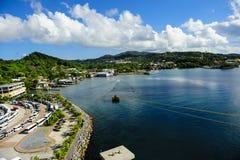 Roatan Honduras. View from a cruise ship docked at Roatan Honduras Royalty Free Stock Photography